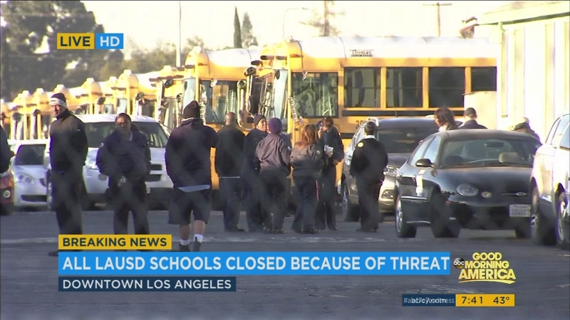 All LAUSD schools closed due to threat made against district