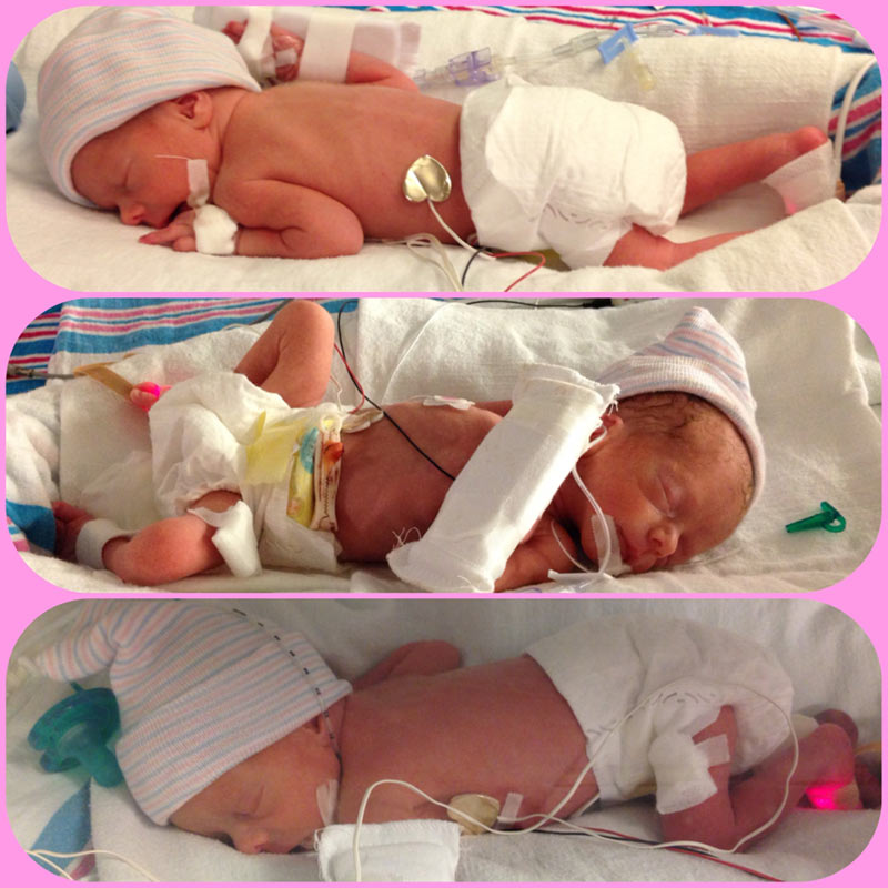 identical triplets born at cape fear valley medical center in