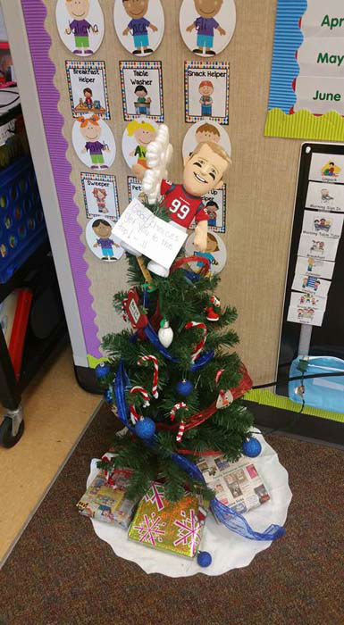 """<div class=""""meta image-caption""""><div class=""""origin-logo origin-image none""""><span>none</span></div><span class=""""caption-text"""">In the tradition of Elf on the Shelf, a pre-K teacher in Spring Branch ISD is using a JJ Watt doll to inspire her students to make good decisions in and out of the classroom (KTRK Photo/ Lindsay Duke)</span></div>"""