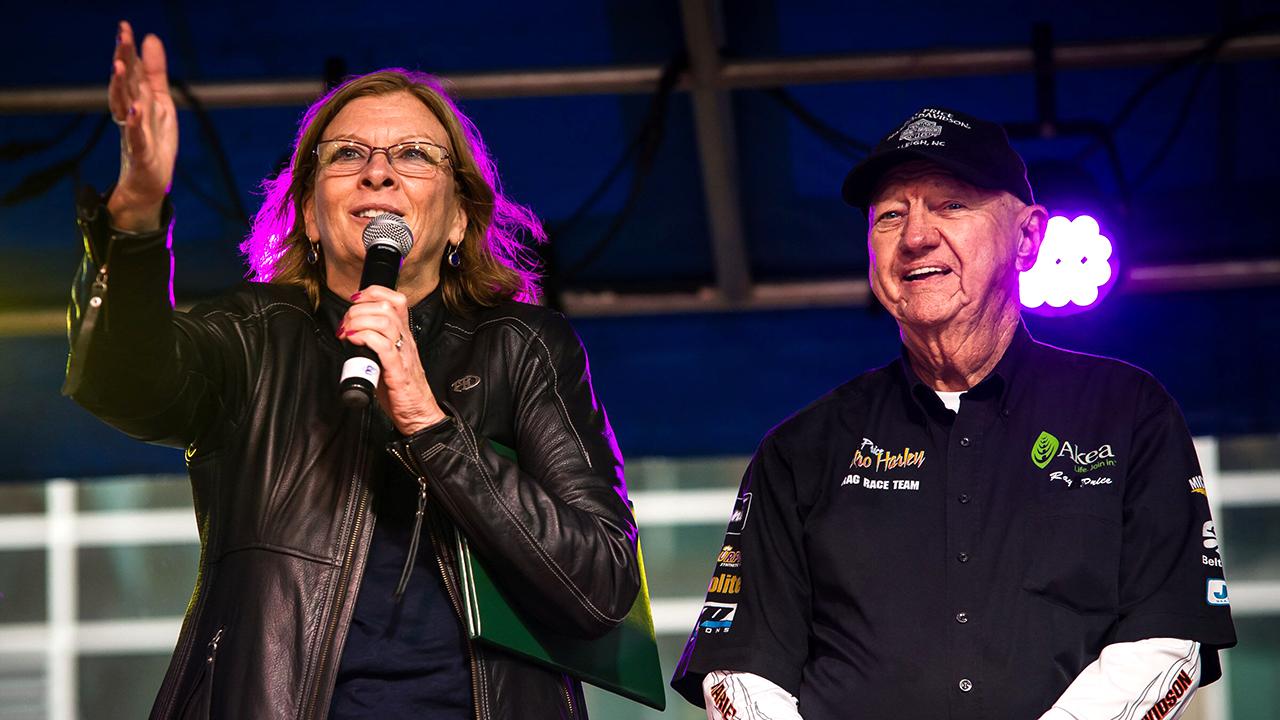 Ray Price is seen with Raleigh mayor Nancy McFarlane.
