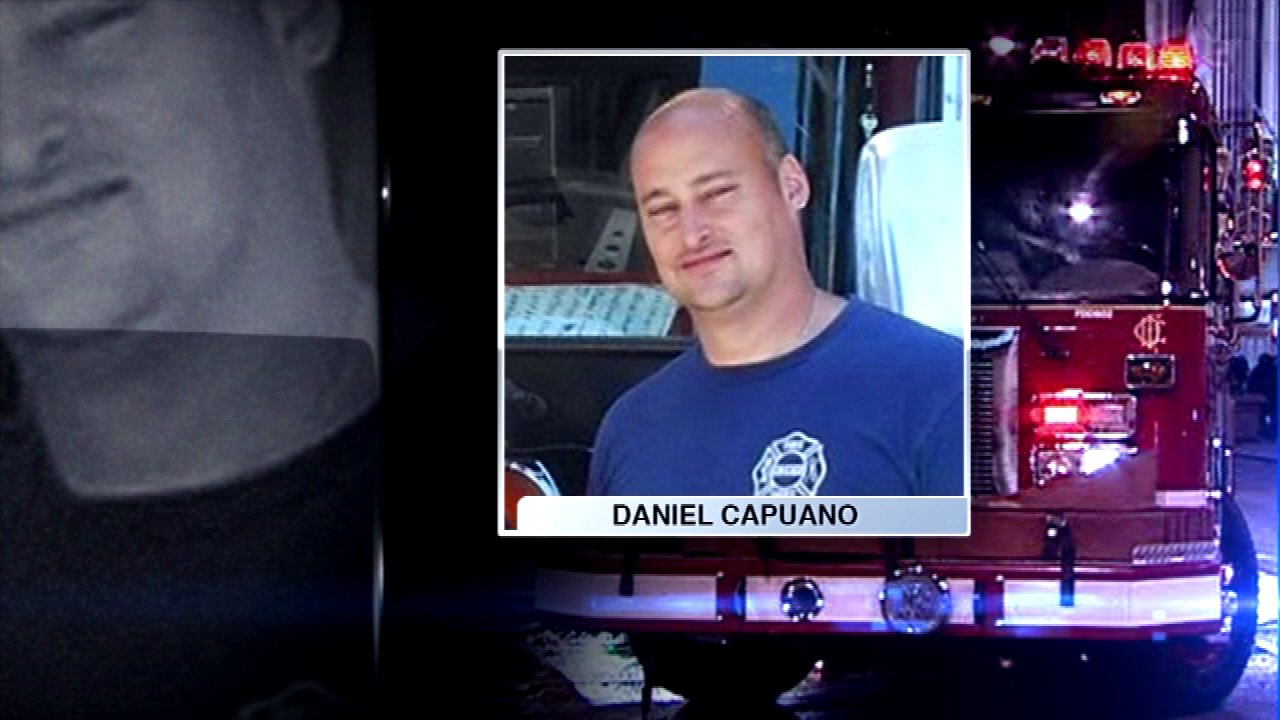 Family and friends of fallen Chicago Firefighter Daniel Capuano will gather for his visitation at St. Rita High School on the South Side.