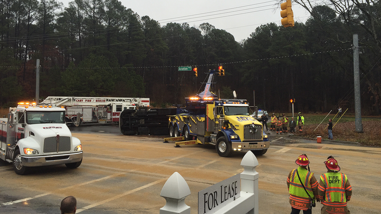 Accident closes part of Aviation Parkway