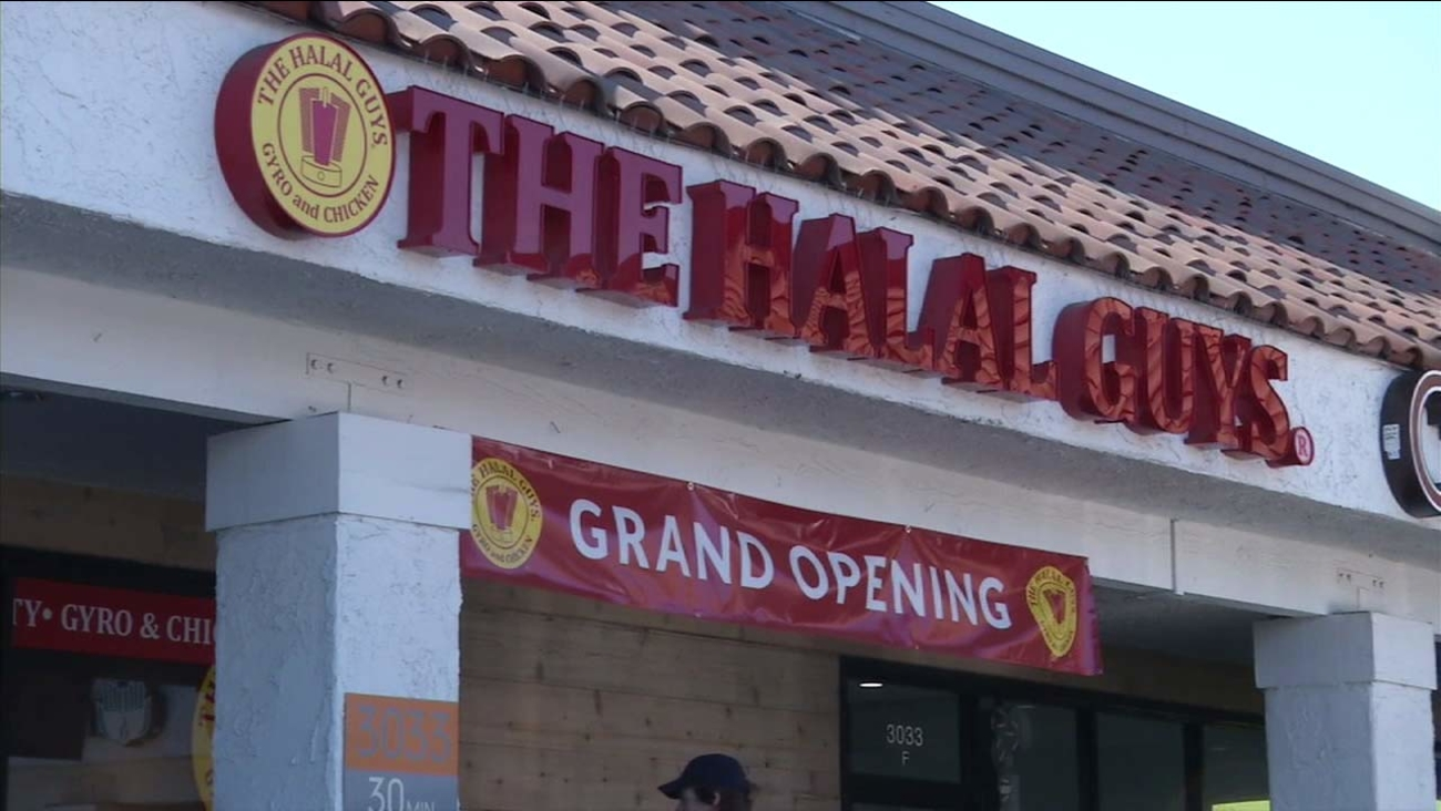 The Grand Opening of The Halal Guys in Costa Mesa on Nov. 15, 2015.