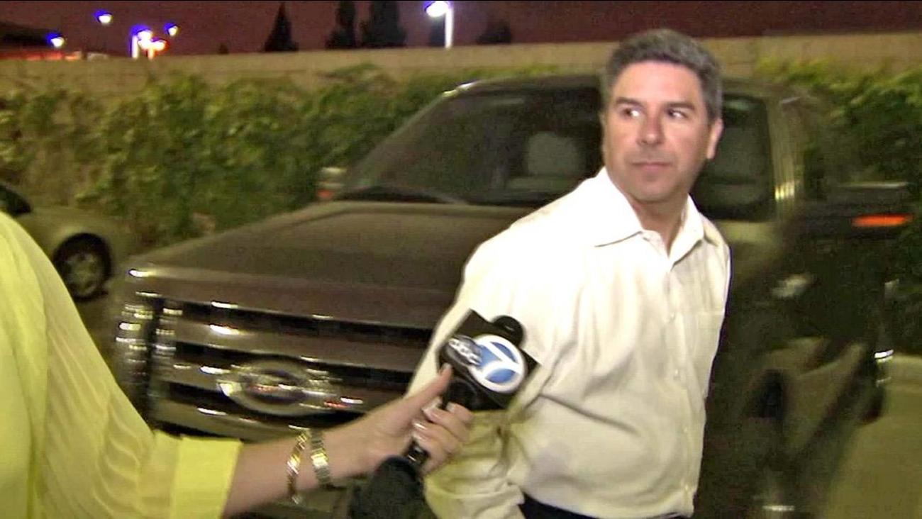 Santa Ana City Councilman Carlos Bustamante is seen exiting the Orange County Jail on bond on Monday, July 2, 2012.