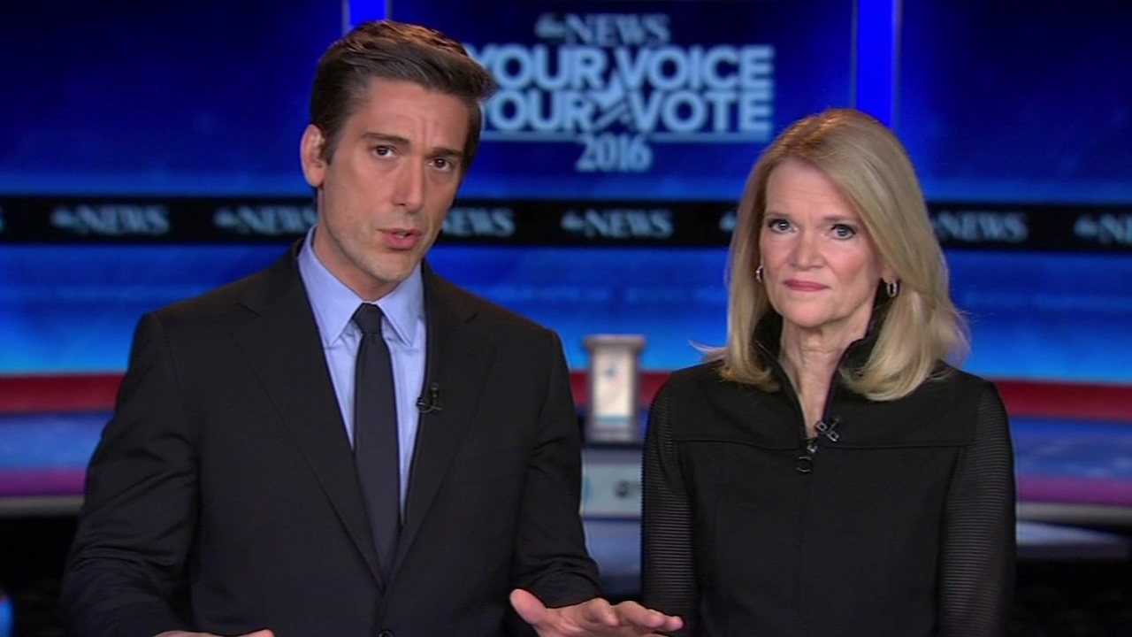 ABC News' David Muir and Martha Raddatz will be moderating the Democratic presidential debate on Saturday at 5 p.m. in New Hampshire.