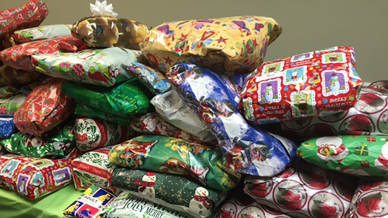 Photo of toys collected Saturday at Christ Our King Community Church