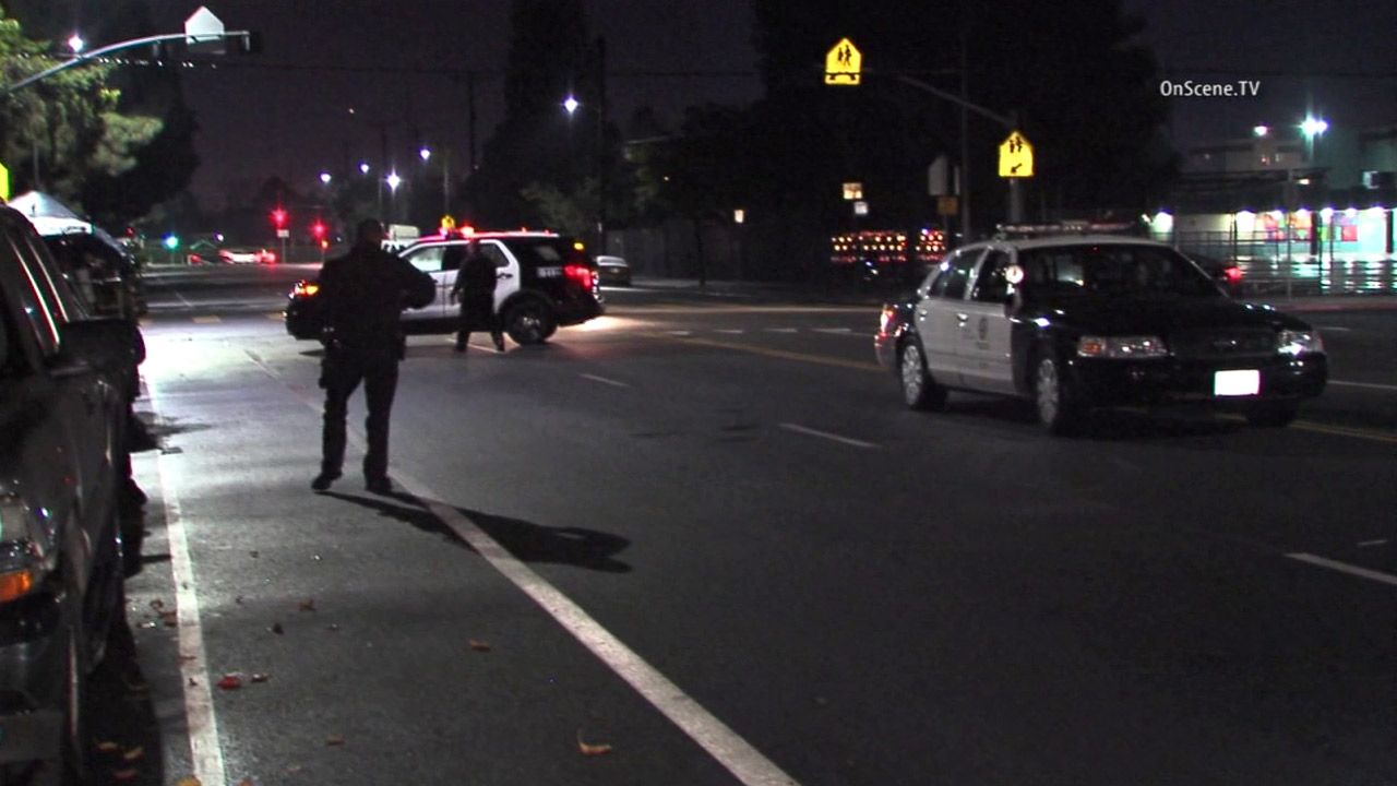Authorities cordoned off a crosswalk on Martin Luther King Jr. Boulevard after a child was struck by a hit-and-run driver on Saturday, Dec. 19, 2015.