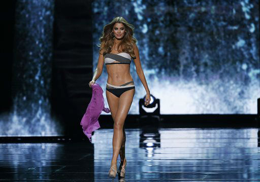 <div class='meta'><div class='origin-logo' data-origin='none'></div><span class='caption-text' data-credit='AP Photo/ John Locher'>Miss Colombia Ariadna Gutierrez competes in the swimsuit competition at the Miss Universe pageant</span></div>