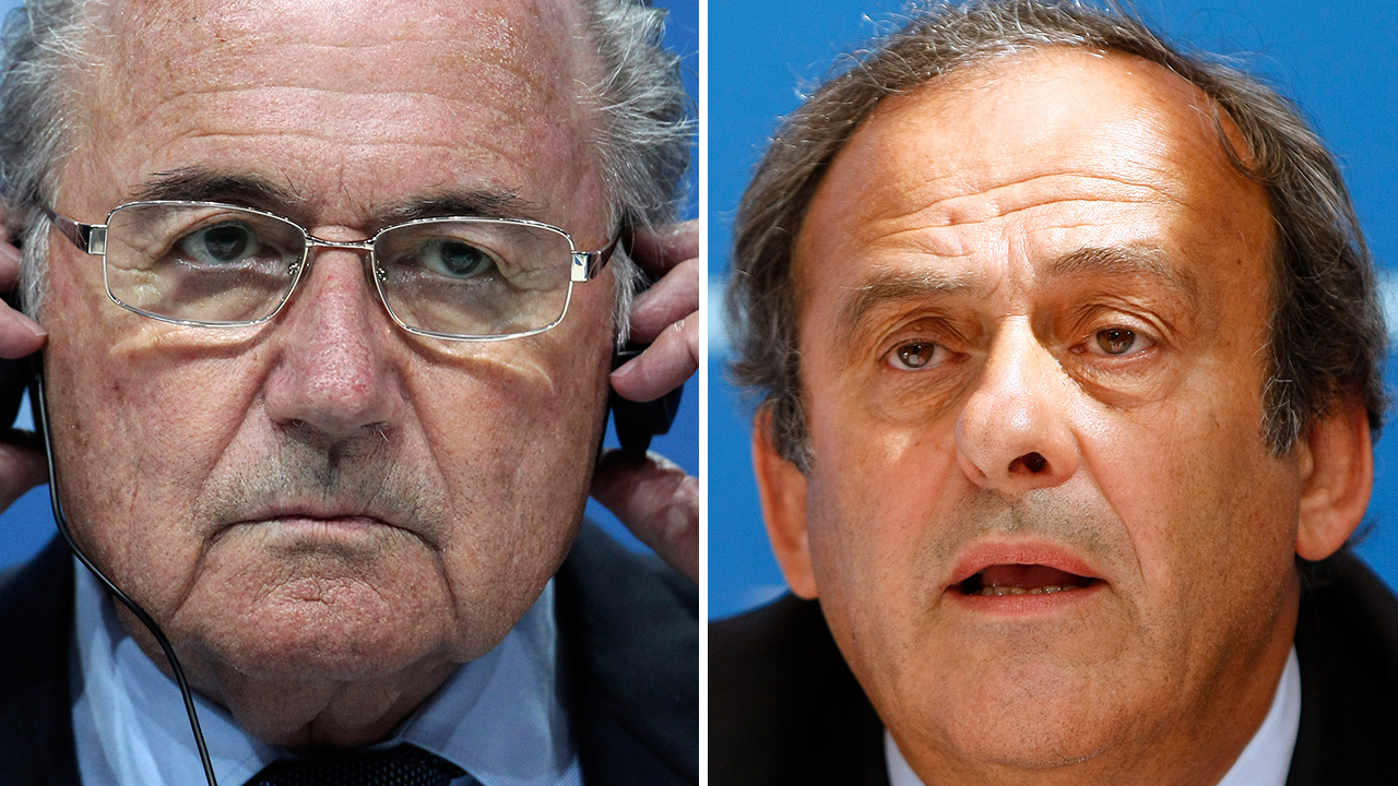 Blatter, left, and Platini