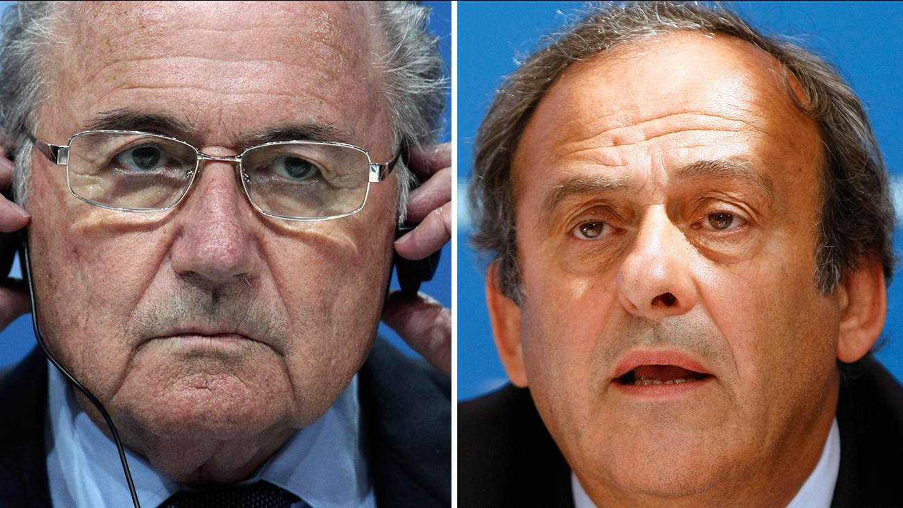 Blatter, left, and Platini