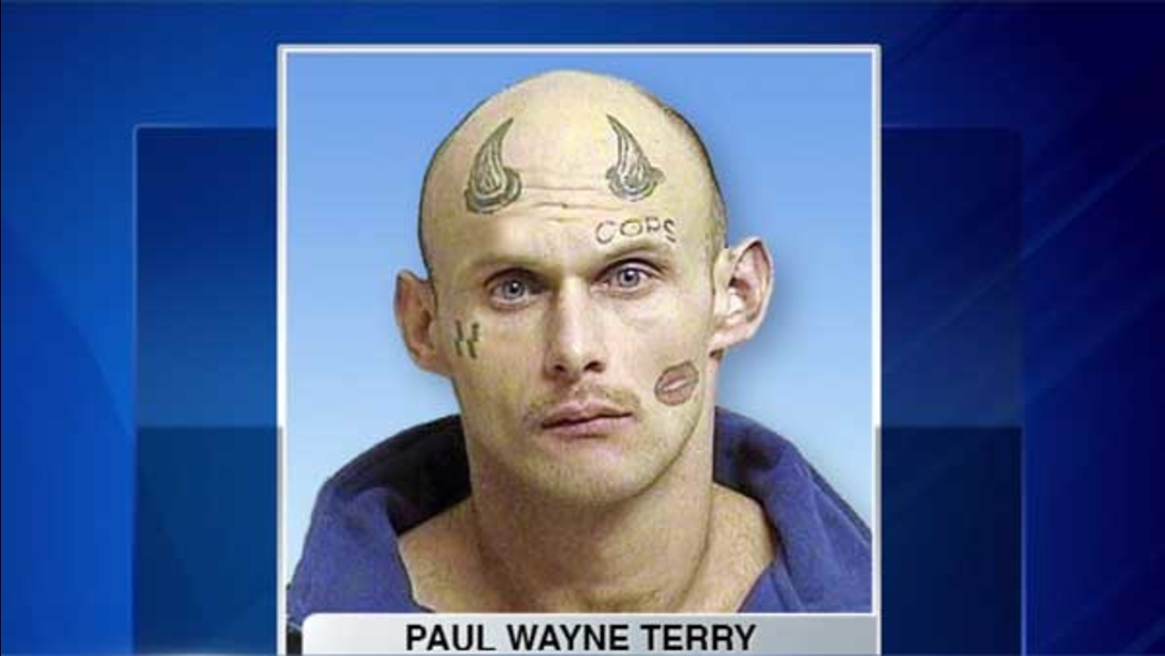 Police in Tulsa, Oklahoma, had an easy time tracking down armed robbery suspect Paul Wayne Terry.
