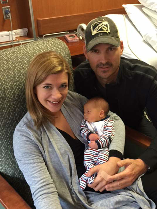 """<div class=""""meta image-caption""""><div class=""""origin-logo origin-image none""""><span>none</span></div><span class=""""caption-text"""">Baby Gray James was born December 20, 2015. He was named after family members of Rebecca Spera and her husband, Eric. (KTRK Photo)</span></div>"""