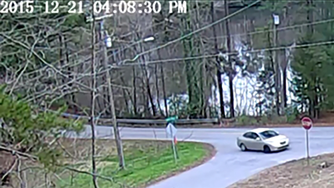 The suspect's vehicle was captured on a security camera.