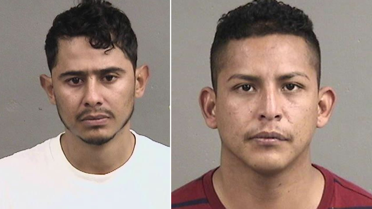 San Leandro police have arrested Salvador Lopez Aguilera, left, and Carlos Cervantes, right, following a shooting in the parking lot of a Hayward nightclub.
