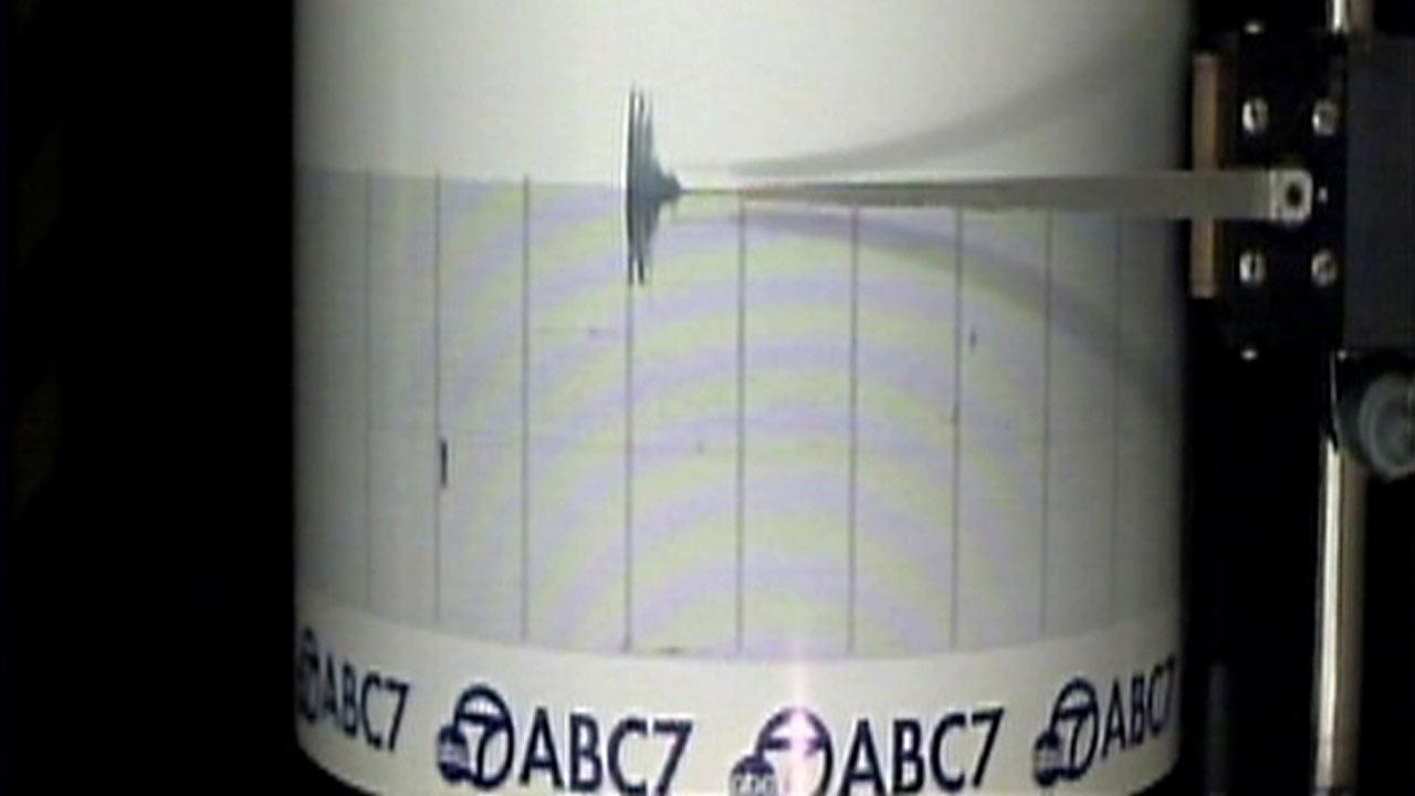 The ABC7 Quake Cam captured a 2.5-magnitude earthquake that struck Anaheim on Thursday,  Dec. 24, 2015.