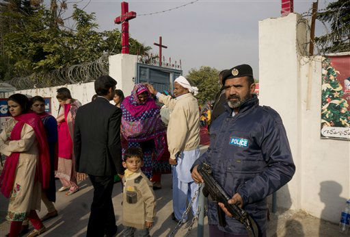 "<div class=""meta image-caption""><div class=""origin-logo origin-image none""><span>none</span></div><span class=""caption-text"">People from Pakistani Christian community leave a local church after attending Christmas mass at a local church in Islamabad, Pakistan. (AP Photo/ B.K. Bangash)</span></div>"