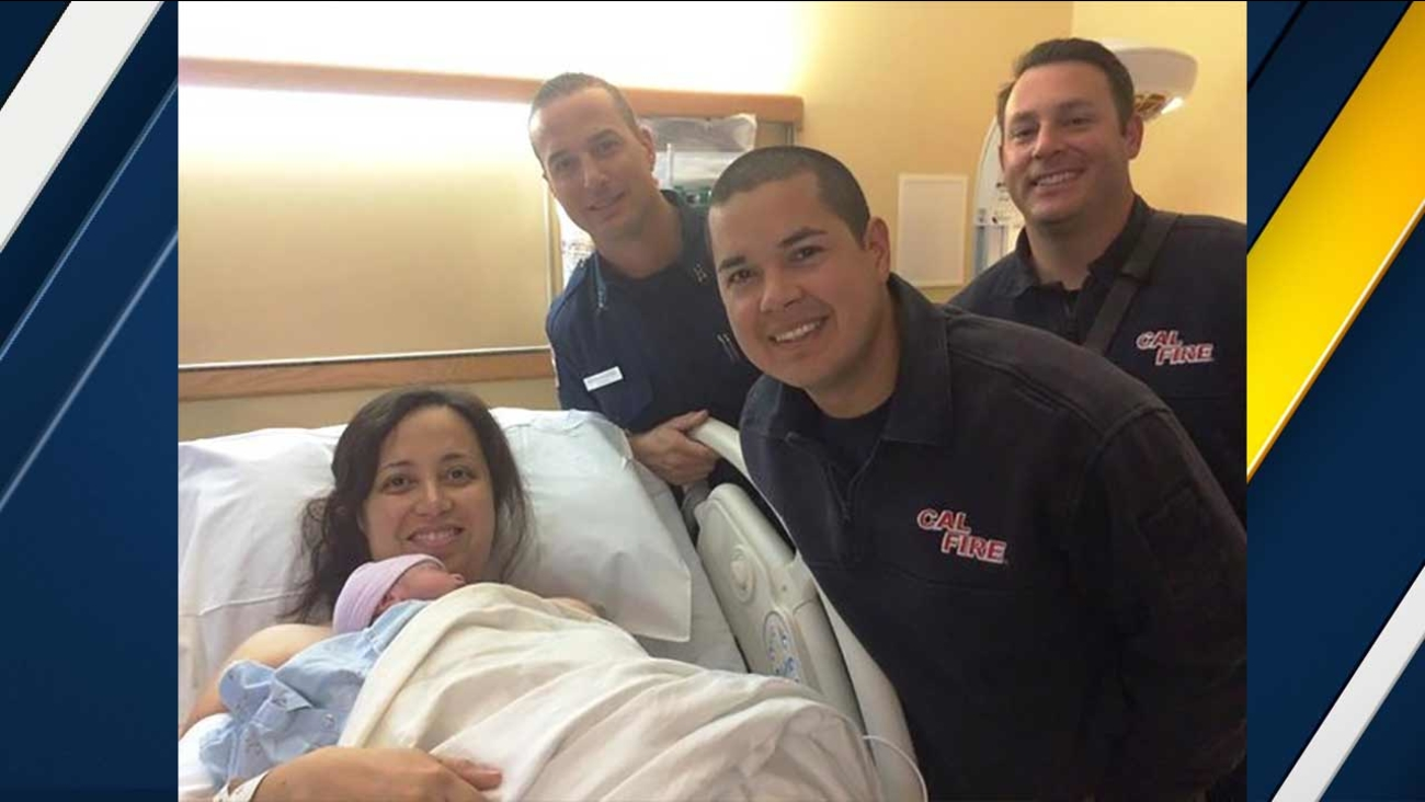 Firefighters helped deliver a baby boy at a Circle K convenience store near Cactus Avenue and Elsworth Street in Moreno Valley on Thursday, Dec. 24, 2015.
