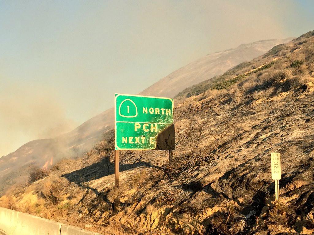 Photos Brush Fire Burns Ventura Hillsides Abc7 Com