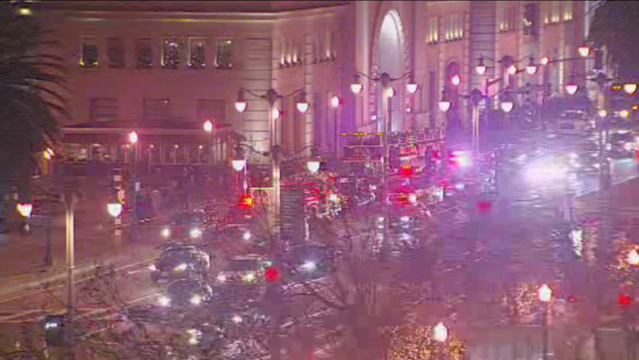 Nine people were injured when a double-decker tour bus collided with an SUV along The Embarcadero in San Francisco on Saturday, December 26, 2015.