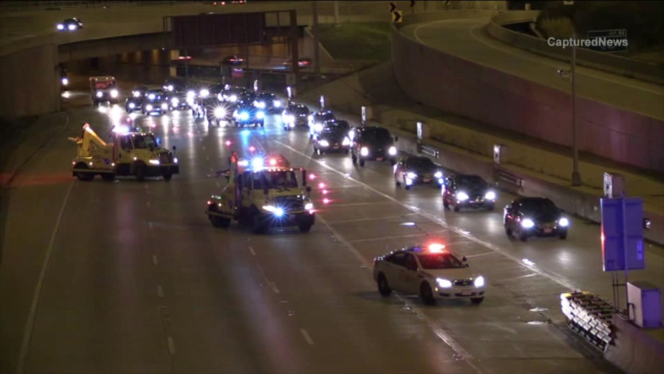 A motorcycle crash closed all local lanes of the inbound Kennedy Expressway near Montrose Avenue early Monday morning.