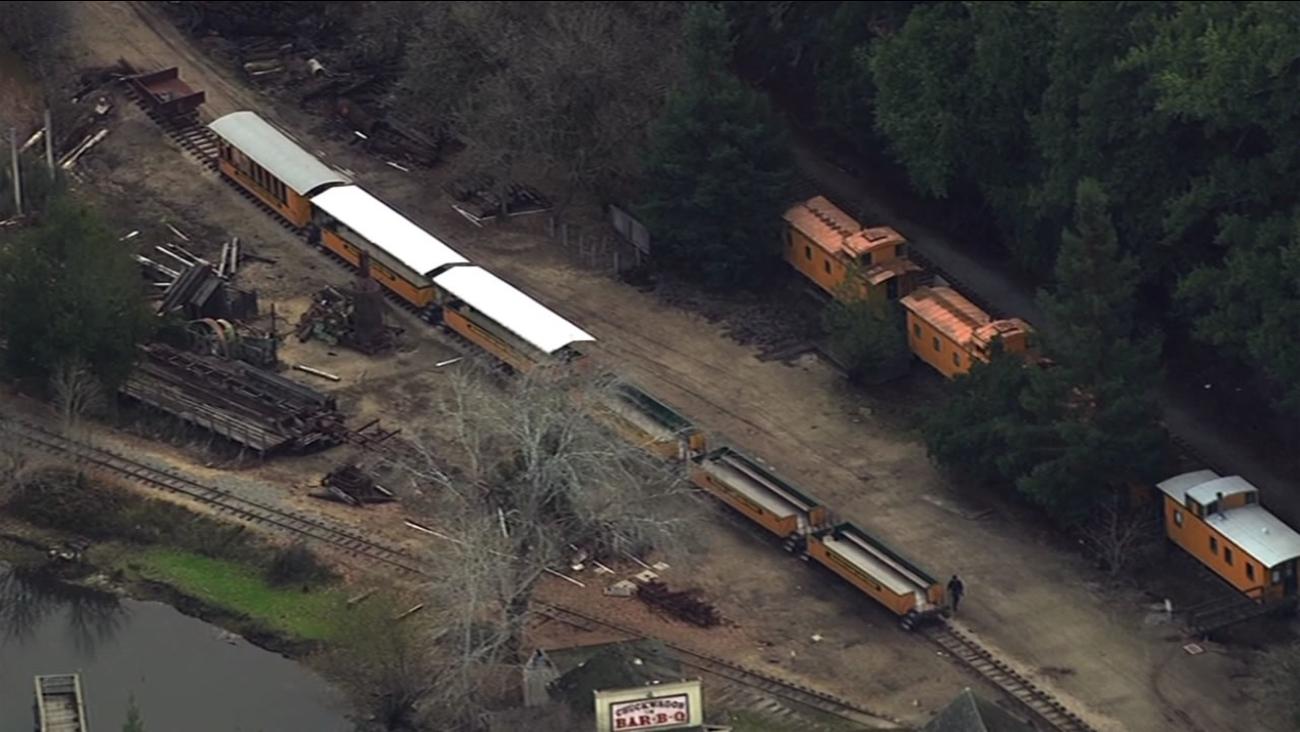 A Roaring Camp Railroad train in Felton, Calif. Dec. 28, 2015.