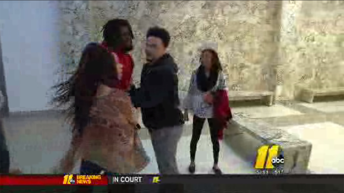 A heated exchange broke out at the courthouse Monday.