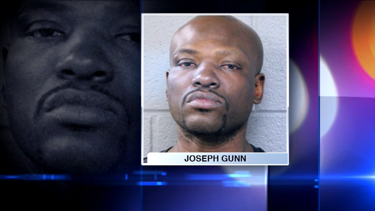 Joseph Gunn, 43, is accused of stealing a Chicago Fire Department SUV.