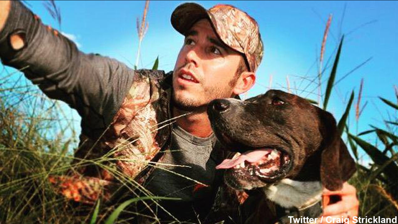 Country singer Craig Strickland is seen in a photo posted on his Twitter account.