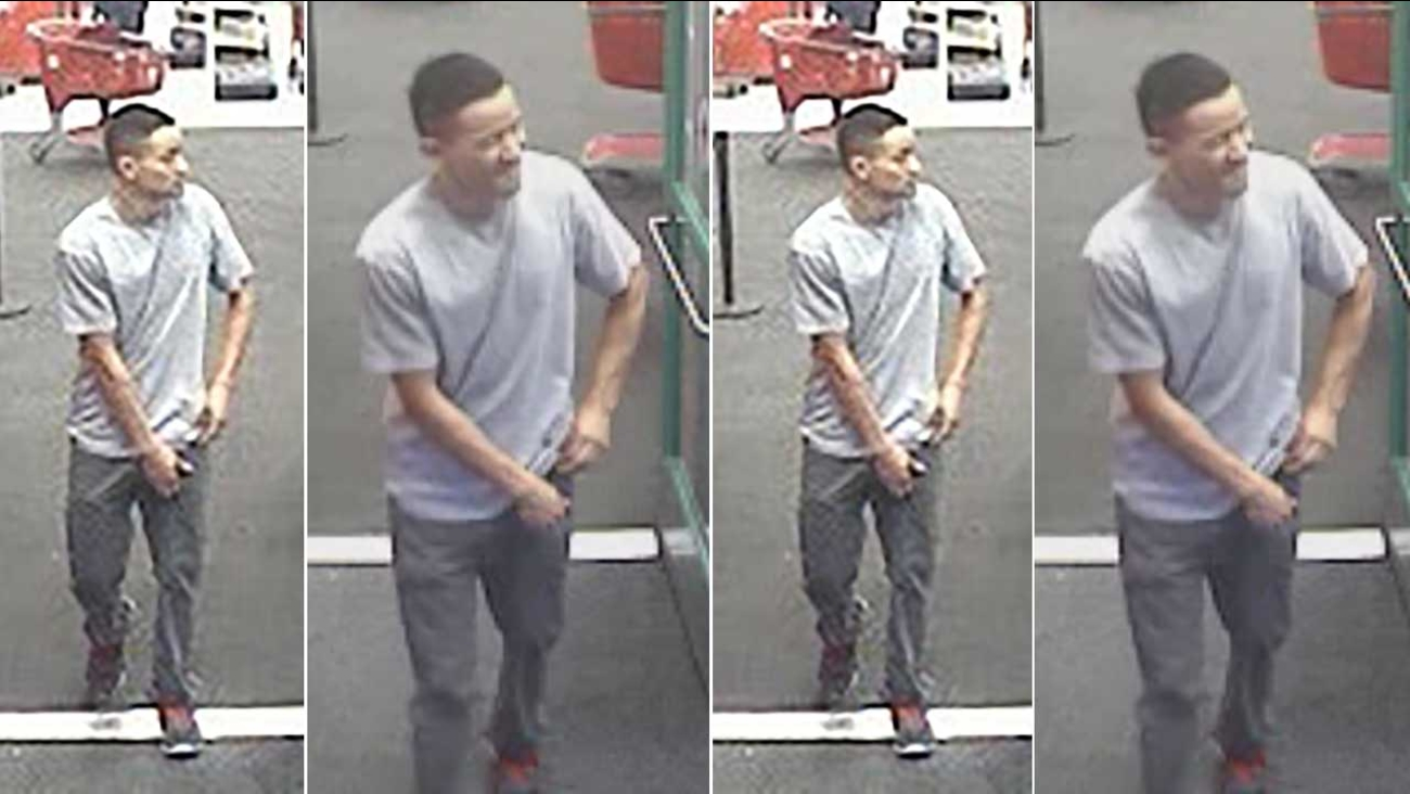 Surveillance photos show the male suspect who allegedly squeezed a girl's buttocks inside a Target store in the 1800 block of W. Empire Avenue in Burbank on Sunday, Dec. 13, 2015.