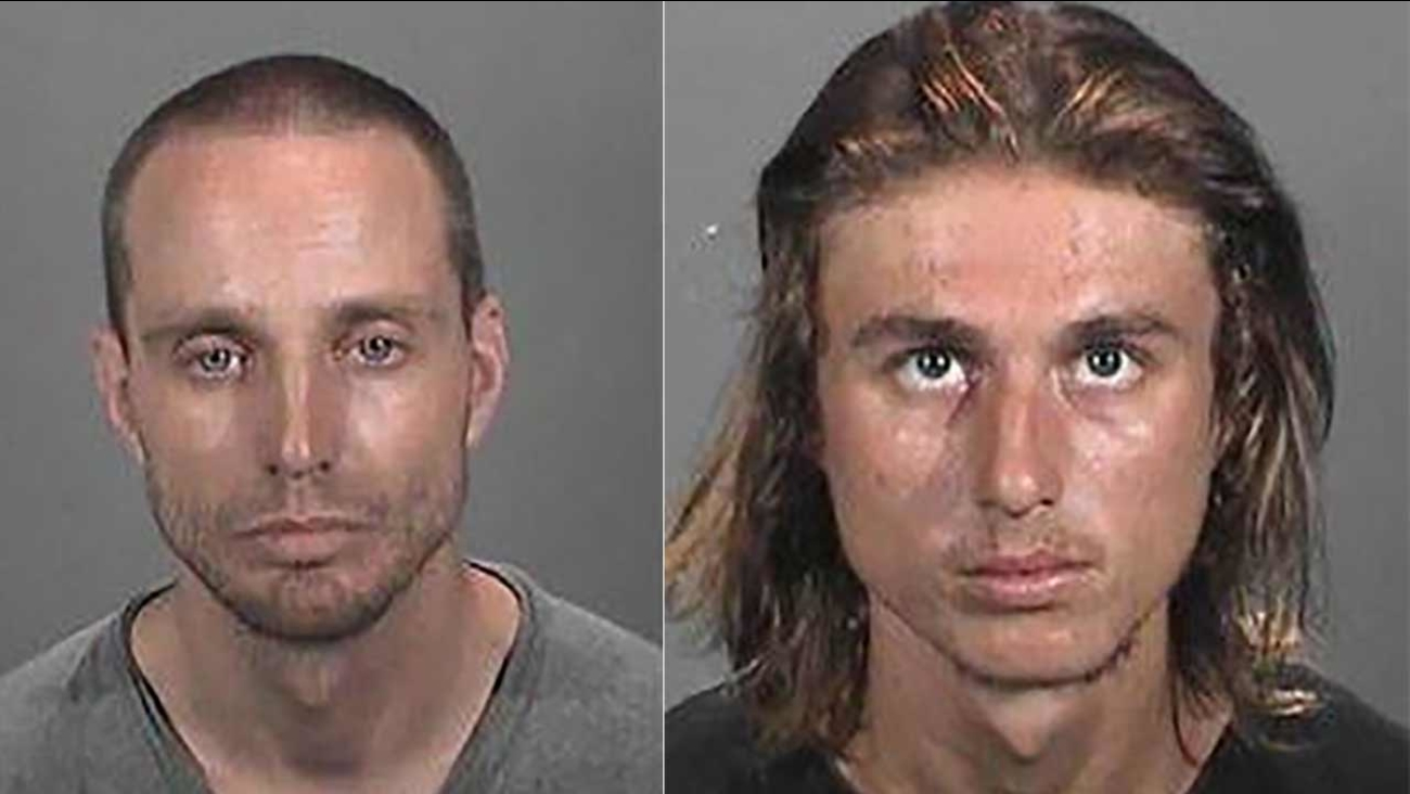 Raymond Tammany, 35, (left) and Anthony Ward, 22, (right) were arrested for possession of stolen property and grand theft auto by Hermosa Beach police on Thursday, Dec. 24, 2015.