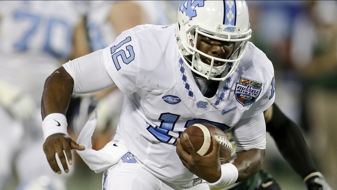 North Carolina quarterback Marquise Williams gave his all in a losing effort.