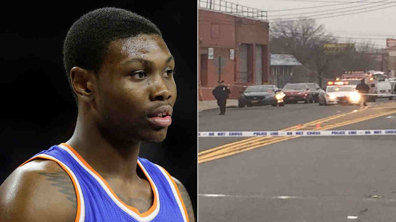 New York Knicks forward Cleanthony Early, left, seen during an NBA game Feb. 27, 2015, was shot in the leg outside a strip club in Queens, New York on Wednesday, Dec. 30, 2015.