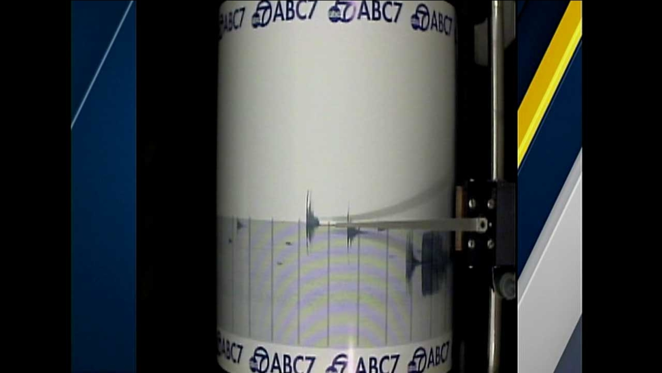 The ABC7 Quake Cam captured the small temblor that struck Devore in San Bernardino County on Wednesday, Dec. 30, 2015.