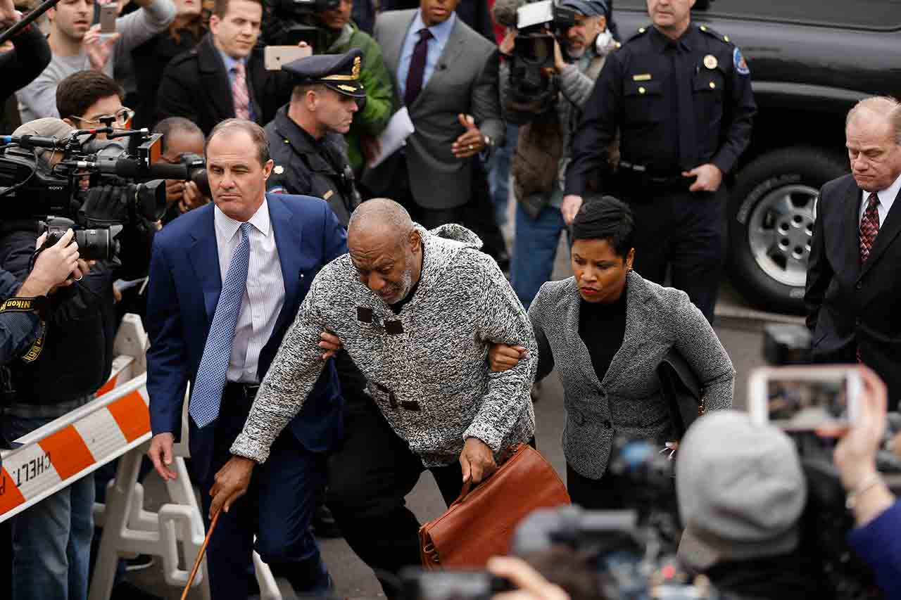 "<div class=""meta image-caption""><div class=""origin-logo origin-image none""><span>none</span></div><span class=""caption-text"">Bill Cosby stumbles as he arrives at court to face a felony charge of aggravated indecent assault Wednesday, Dec. 30, 2015, in Elkins Park, Pa. (AP Photo/Matt Rourke)</span></div>"