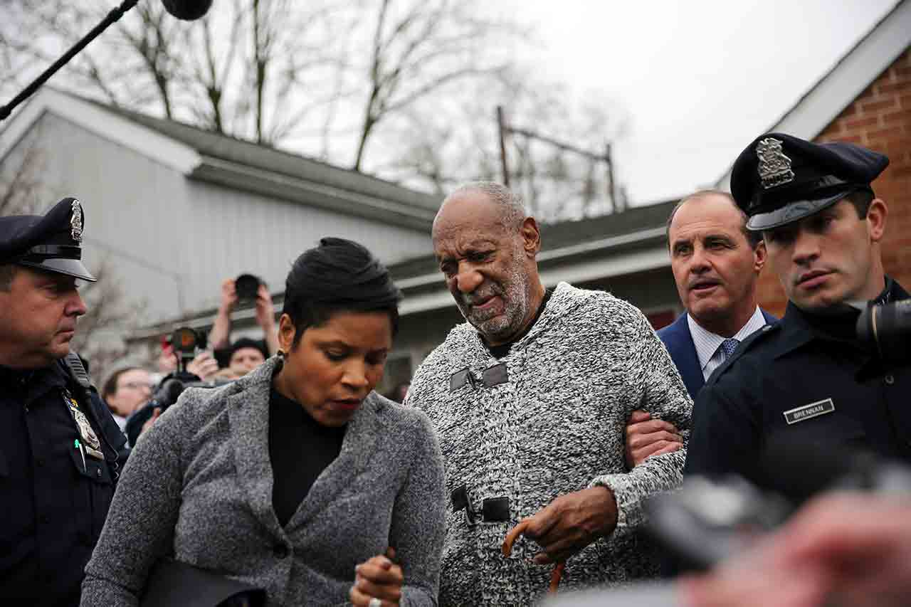 "<div class=""meta image-caption""><div class=""origin-logo origin-image none""><span>none</span></div><span class=""caption-text"">Actor and comedian Bill Cosby is helped as he leaves a court appearance where he faced a felony charge of aggravated indecent assault Wednesday, Dec. 30, 2015, in Elkins Park, Pa. (AP Photo/Mel Evans)</span></div>"