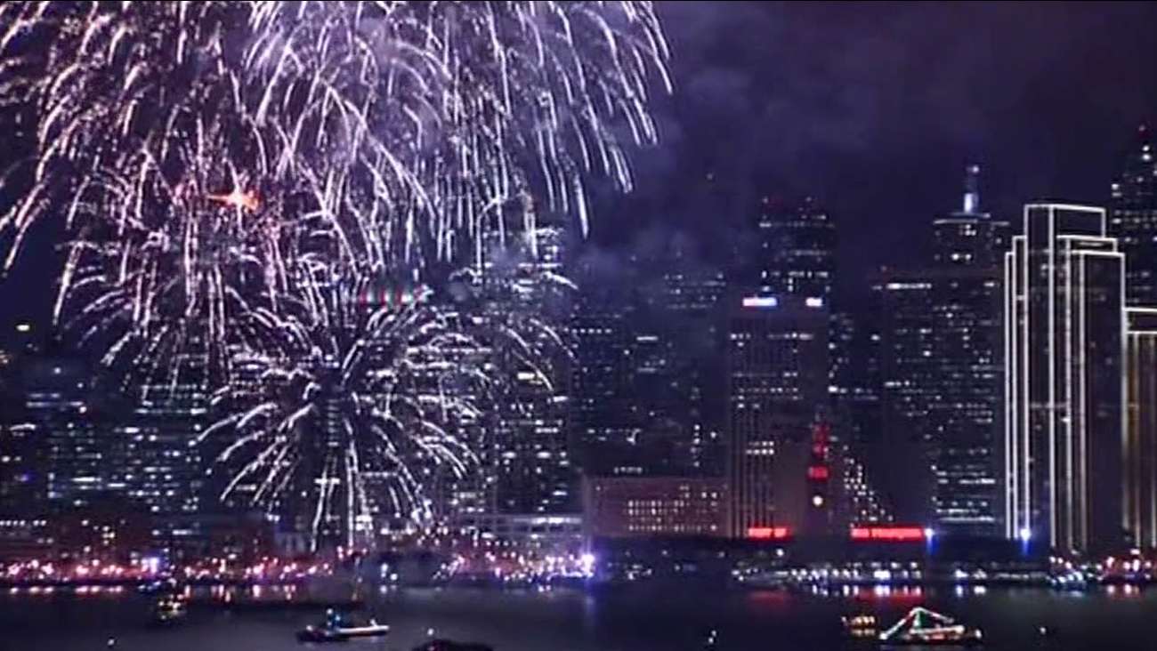 San Francisco New Year's Eve fireworks