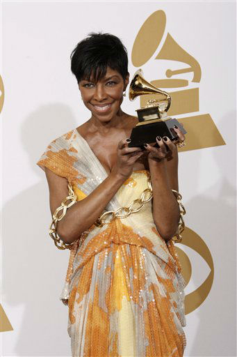 <div class='meta'><div class='origin-logo' data-origin='none'></div><span class='caption-text' data-credit=''>Natalie Cole holds the best instrumental arrangement accompanying vocalist award at the 51st Annual Grammy Awards on Sunday, Feb. 8, 2009, in Los Angeles. (AP photo/Matt Sayles)</span></div>