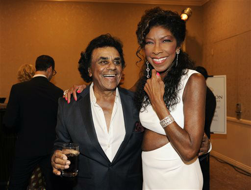 """<div class=""""meta image-caption""""><div class=""""origin-logo origin-image none""""><span>none</span></div><span class=""""caption-text"""">Singers Johnny Mathis, left, and Natalie Cole in Beverly Hills in 2014. (Photo by Chris Pizzello/Invision/AP) (Photo/Chris Pizzello)</span></div>"""