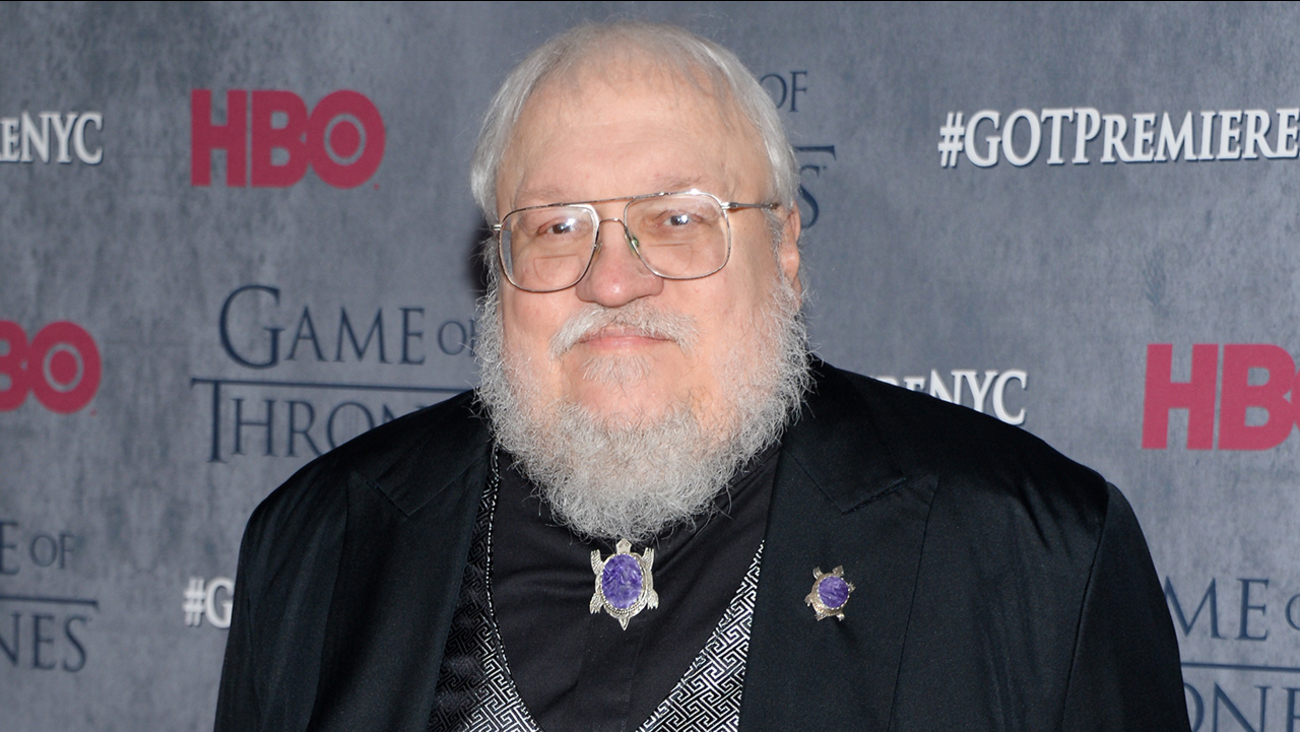 """In this March 18, 2014 file photo, author and co-executive producer George R. R. Martin attends HBO's """"Game of Thrones"""" fourth season premiere in New York."""