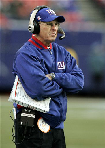 """<div class=""""meta image-caption""""><div class=""""origin-logo origin-image none""""><span>none</span></div><span class=""""caption-text"""">Giants' coach Tom Coughlin looks from the sideline during their' 23-0 loss to the Carolina Panthers in a NFC wild card playoff football game on Jan. 8, 2006. (AP Photo/ KATHY WILLENS)</span></div>"""