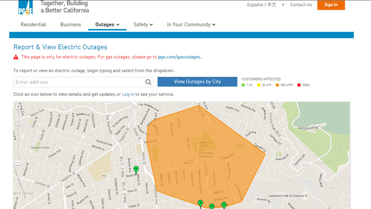 Power Restored To All 5 800 Pg E Customers In Berkeley Following