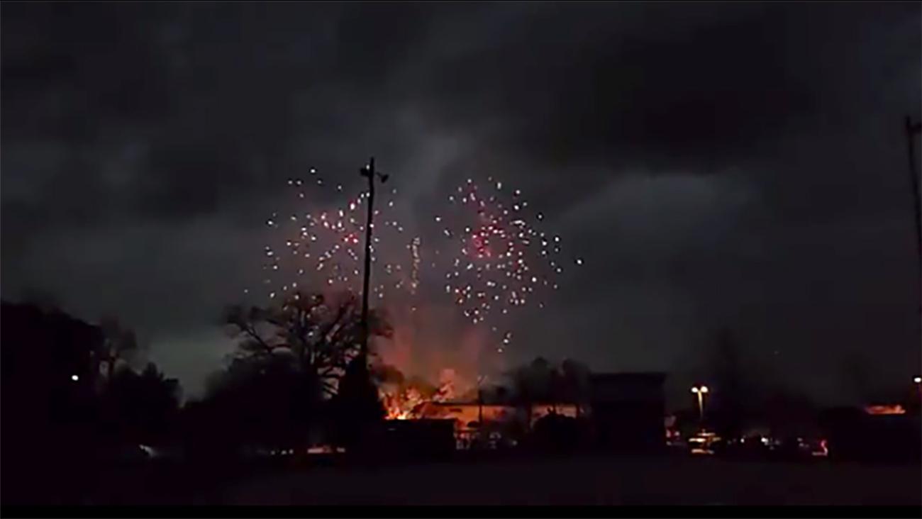 Fireworks in Clayton,