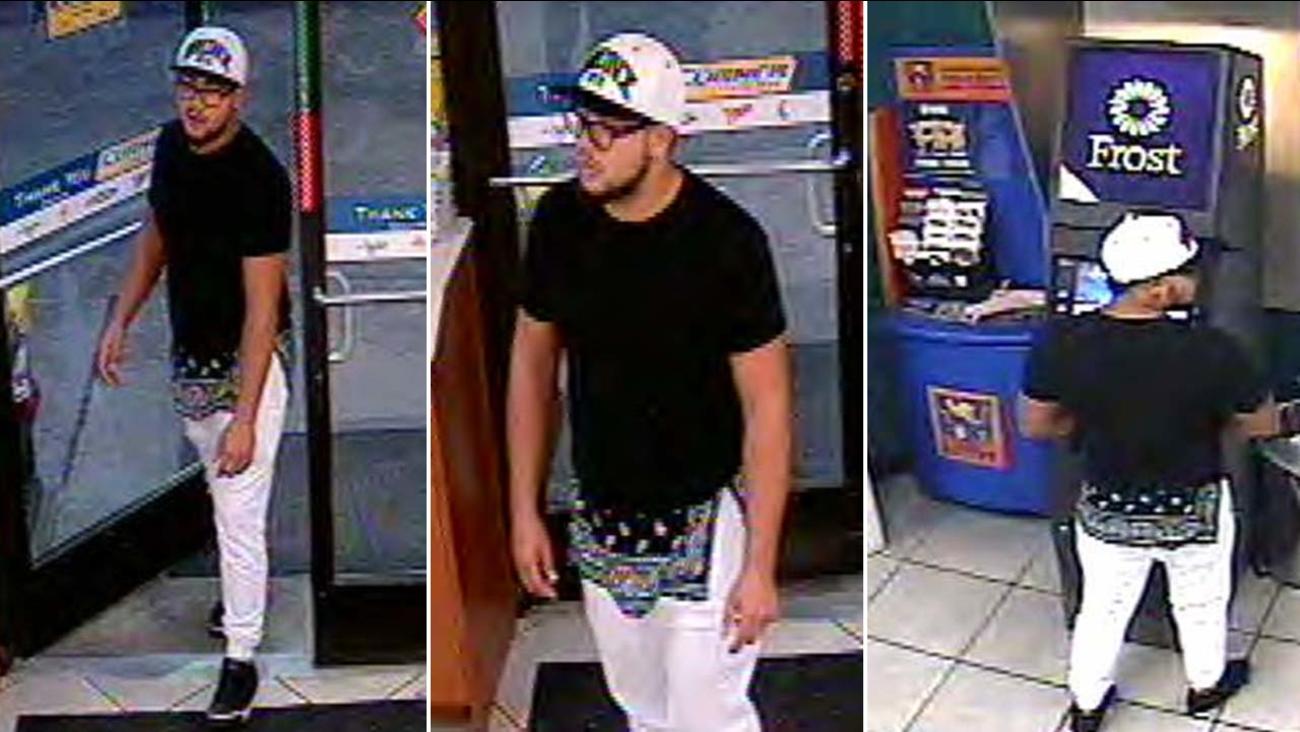 Suspect seen in surveillance images