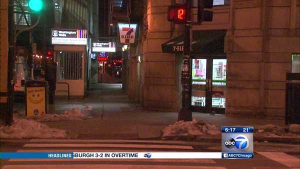 A 7-Eleven store in Chicago's Loop was robbed five times in one week, police said.