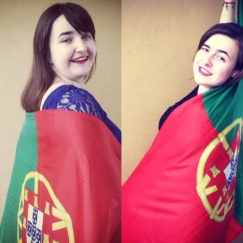 "<div class=""meta image-caption""><div class=""origin-logo origin-image ""><span></span></div><span class=""caption-text"">Portugal all the way! World Cup celebrations are happening all around the Bay Area. Send your fan photos to uReport@kgo-tv.com! (photo submitted by Breana and Brittni via uReport)</span></div>"