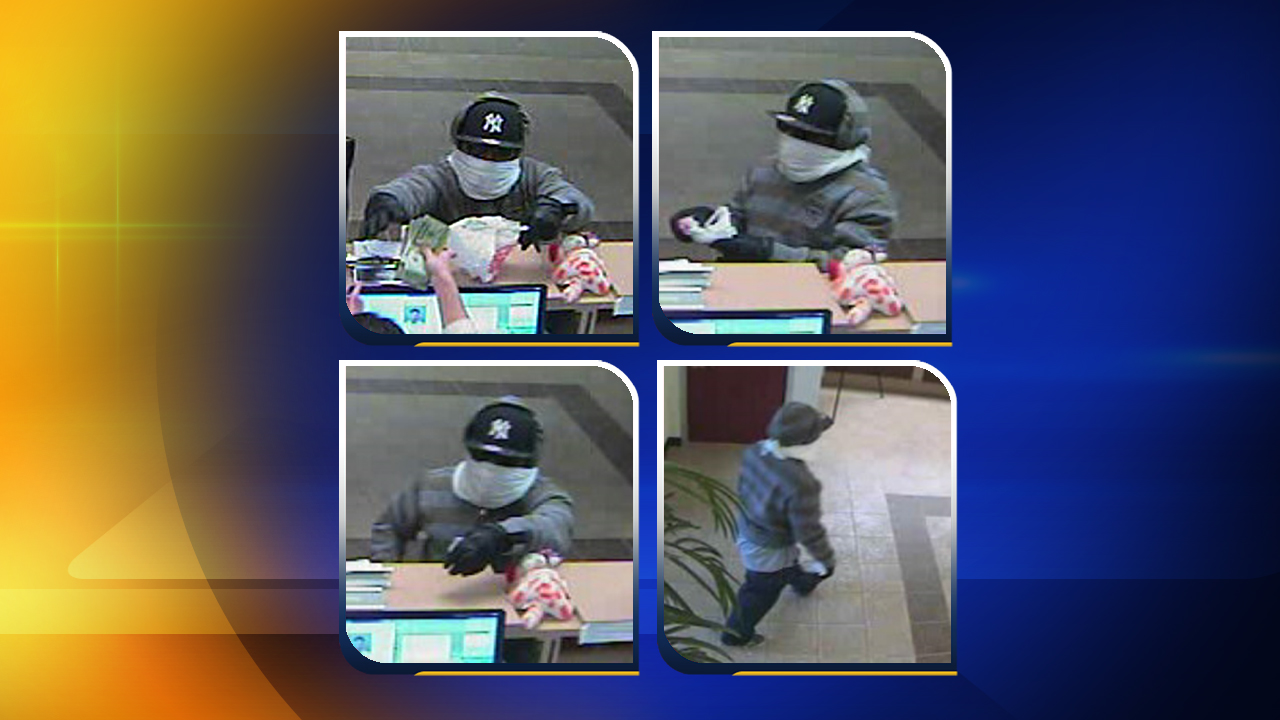 Images of the man who robbed the State Employees' Credit Union
