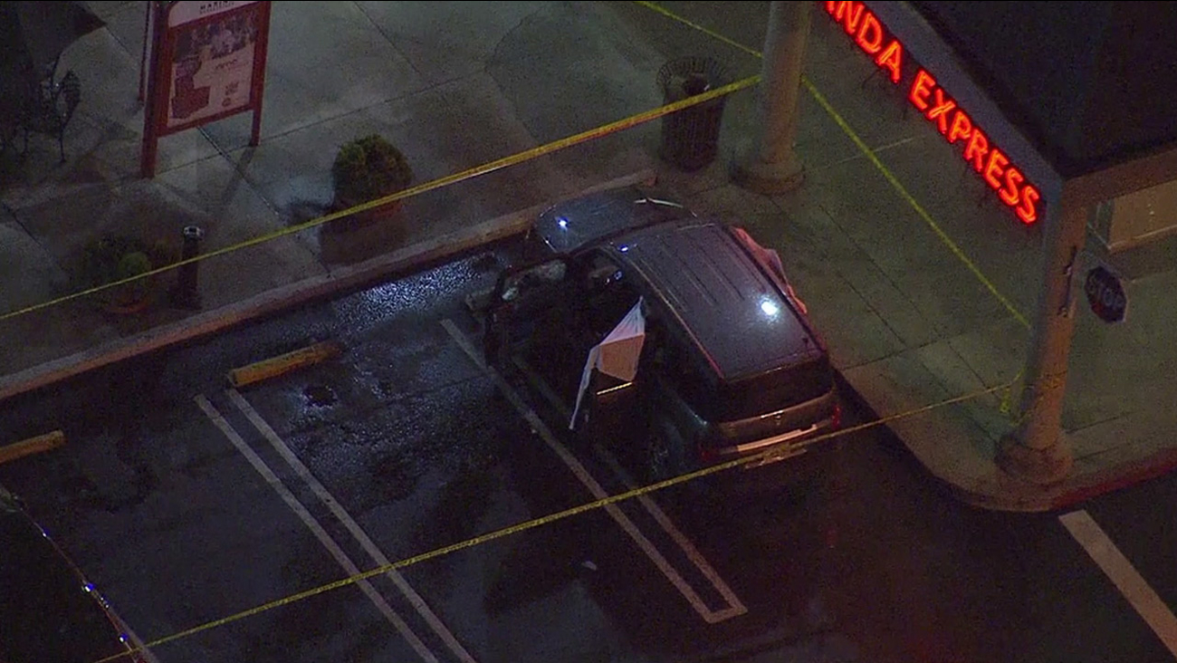 Authorities were investigating a shooting in front of a Panda Express in a Marina del Rey shopping center on Wednesday, Jan. 6, 2016.