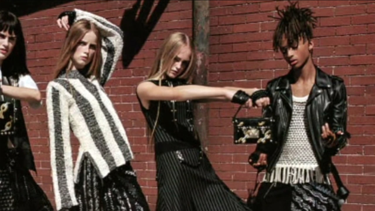 This undated photos shows Jaden Smith in an ad for Louis Vuitton women's line.