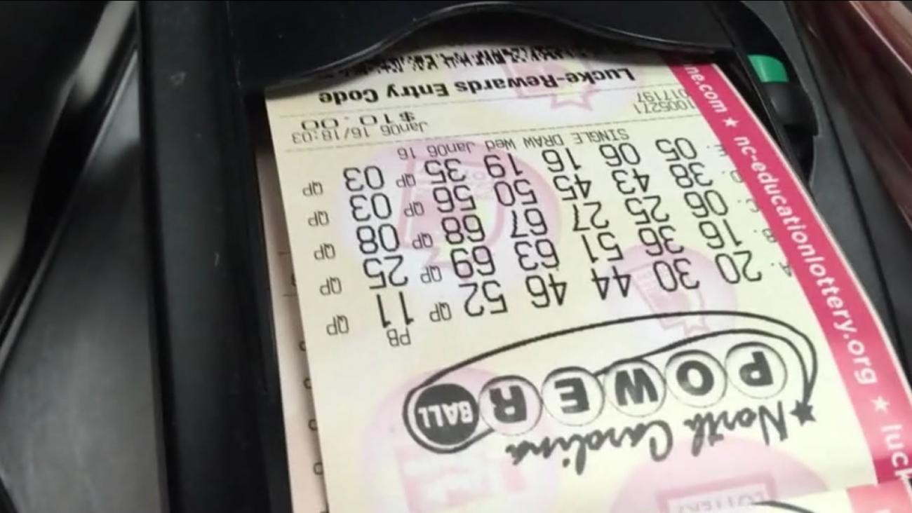 North Carolina Powerball tickets print