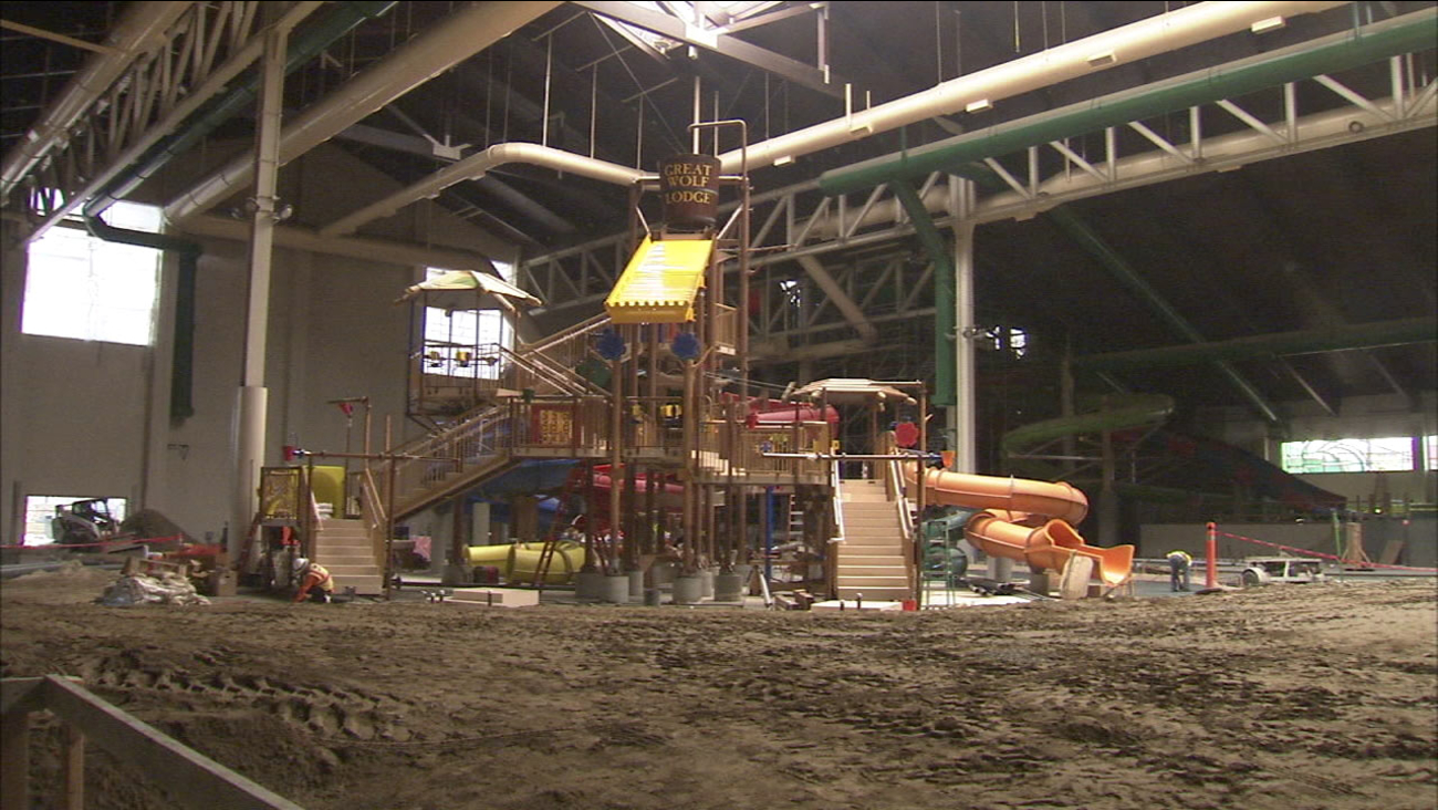 The Great Wolf Lodge in Garden Grove is set top open in spring of 2016.